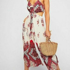 FP Ivory Combo Bella Printed Cut Out Jumpsuit